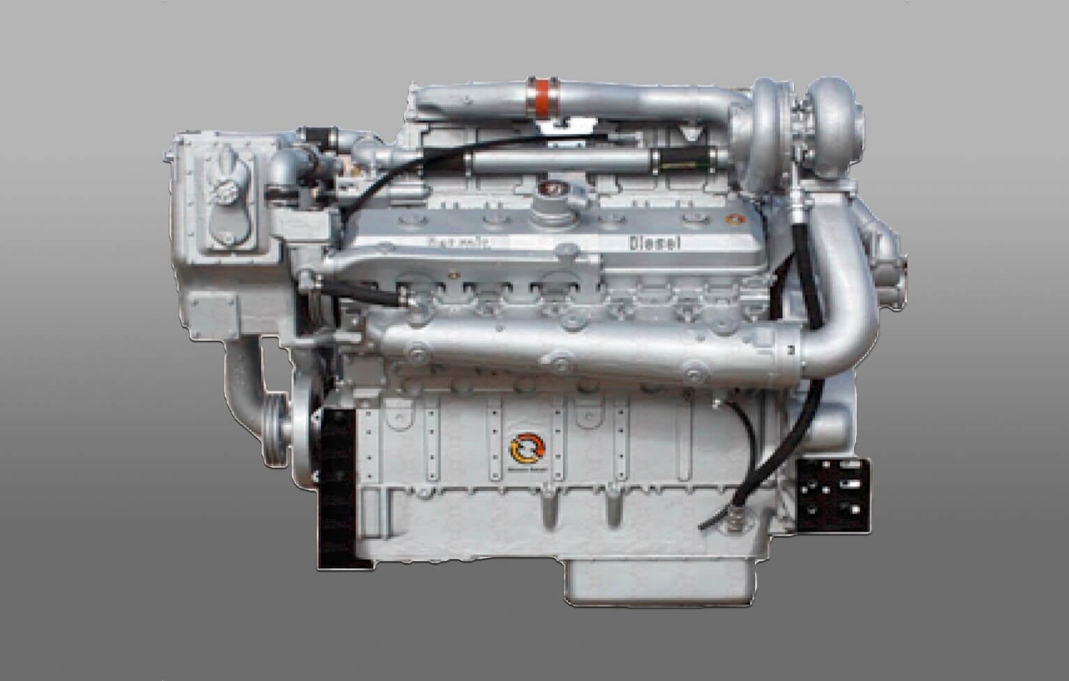 Moteur diesel industriel obsolète